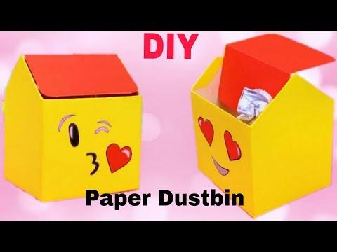 DIY Dustbin With Paper Tutorial   Paper Dustbin Easy Making   Ruks Art N Craft
