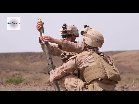 U.S. Marines M224 60mm Lightweight Mortar Live Fire Exercise