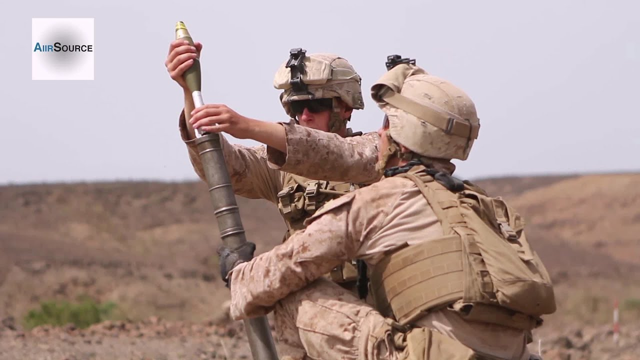 U.S. Marines – Live Fire 60mm Mortar Systems