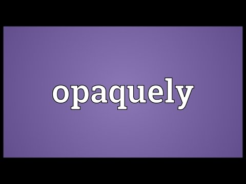 Header of opaquely