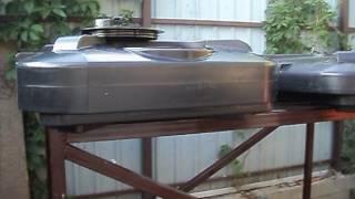 видео Бак с подогревом для дачного душа: с теном, с нагревателем, пластиковый, бочка