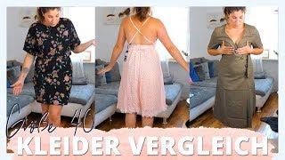 KLEIDER GRÖßE 40 VERGLEICH | Ich teste live Schnitt und Länge von 6 Kleidern | #kleinundkurvig