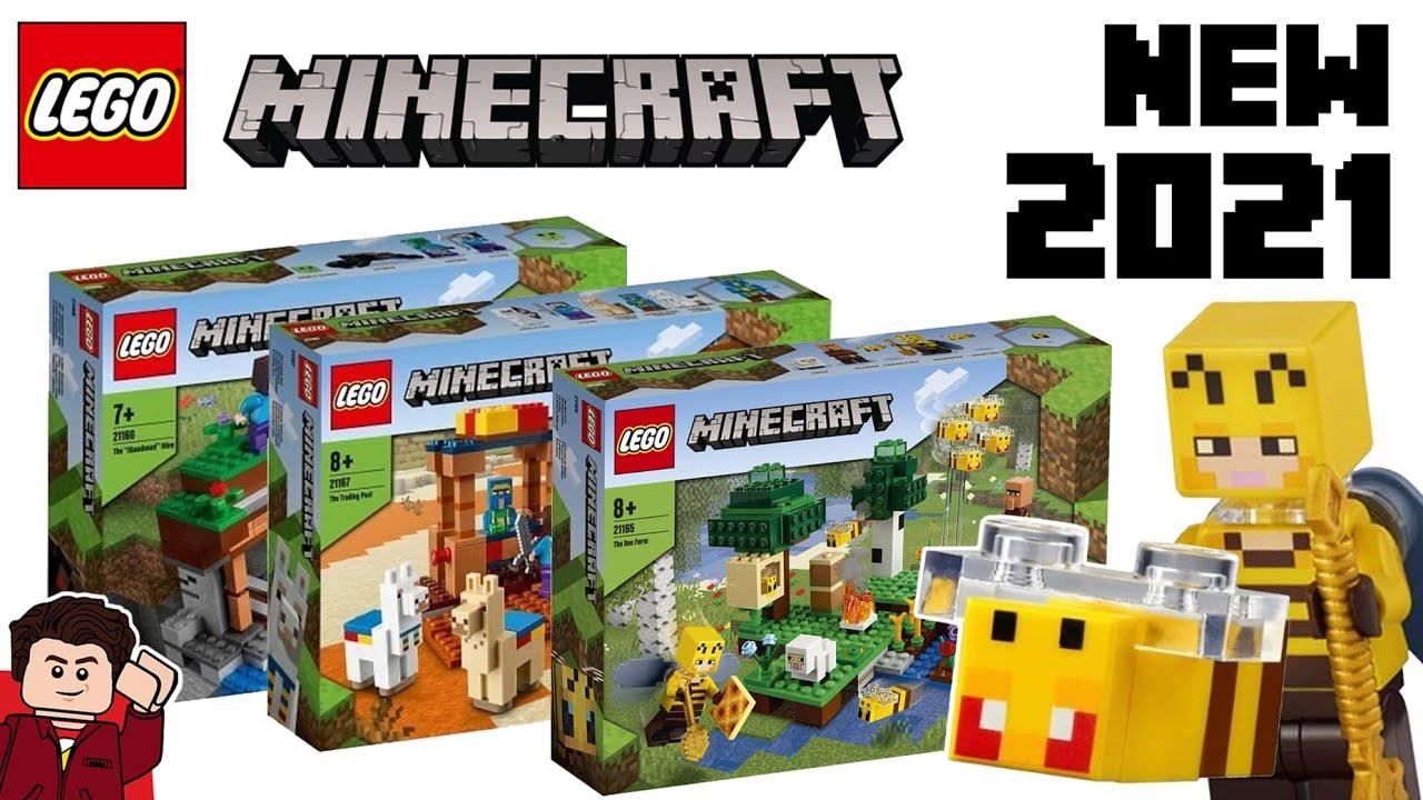 LEGO Minecraft 8 Sets REVEALED  BEES AND LLAMAS!!!