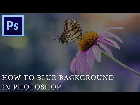 How To Blur Background In Photoshop ?