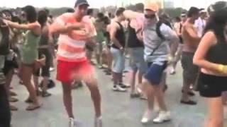 Group of Australian Ravers Dancing to