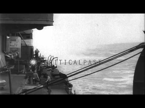 United States Navy destroyer Nicholas in Pacific Theater during World War II. HD Stock Footage