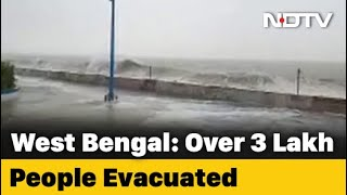 Watch: Big Waves, Rain At Site Of Cyclone Amphan's Landfall In Bengal