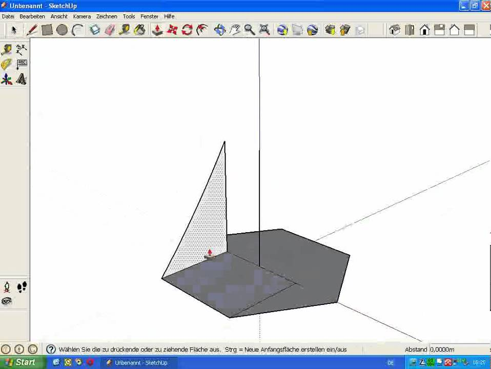 how to cut holes in sketchup