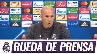 Zidane atendió a los medios antes del partido de Champions frente al Atlético