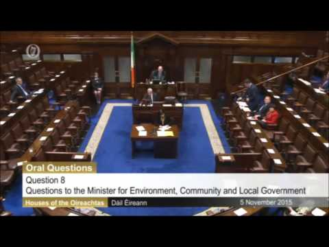Tommy Broughan T.D questioning the Minister for Environment on Housing