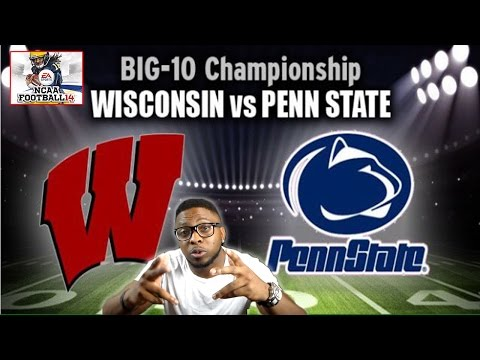 BIG TEN CHAMPIONSHIP!!! PENN ST vs WISCONSIN!!! NCAA Football 14