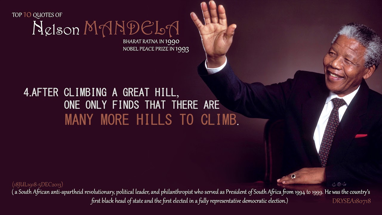 Top 10 Quotes Of Nelson Mandela 4k Youtube