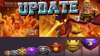 Clash of Clans UPDATE [coming soon]    dark spell factory, dragons level 5 and new leagues