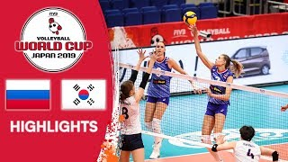 RUSSIA vs. KOREA - Highlights | Women's Volleyball World Cup 2019