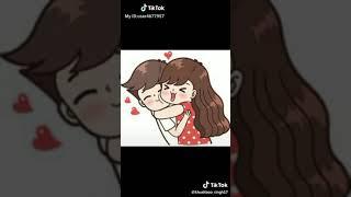 whats app status cute cartoon couple