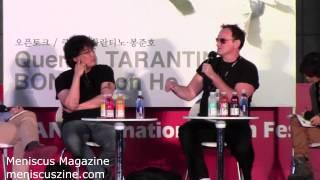 Quentin Tarantino  Bong Joon-ho QA - 2013 Busan International Film Festival - Meniscus Magazine