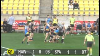 New Zealand Hawks vs South Pacific, April 25 2014. Part 1