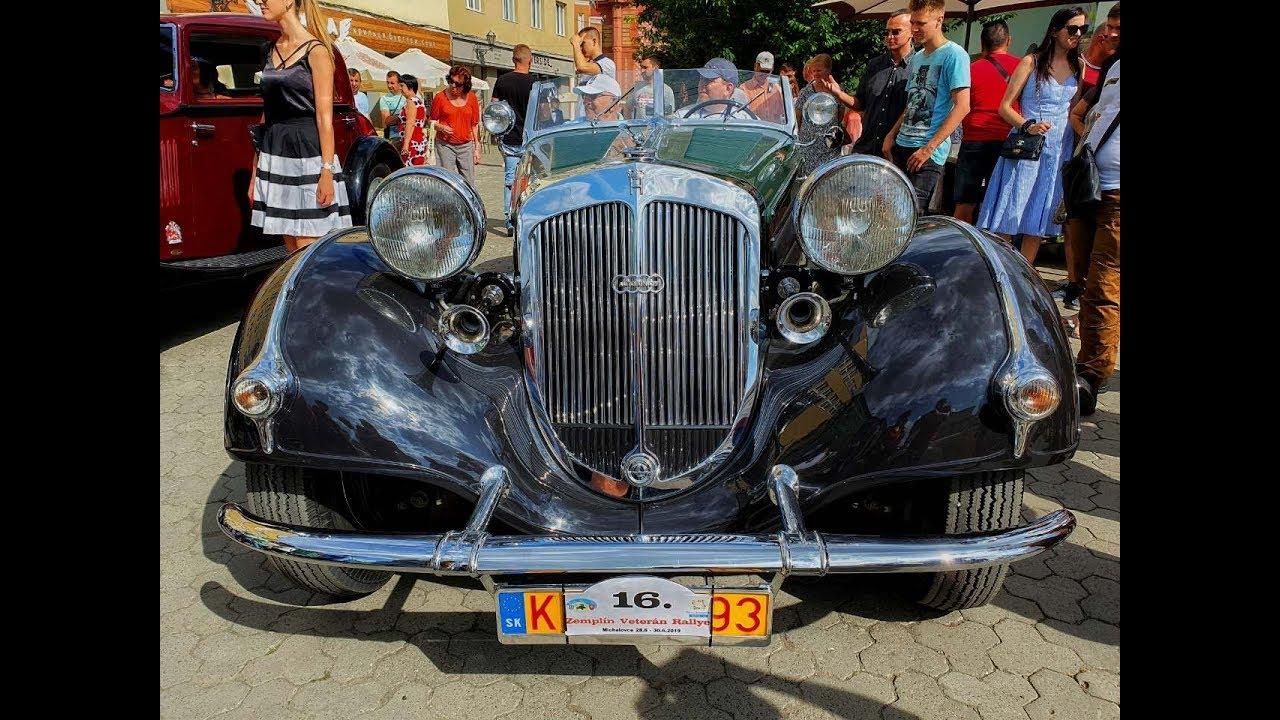 Парад ретро автомобилей в Ужгороде Zemplin veteran rally 4K video