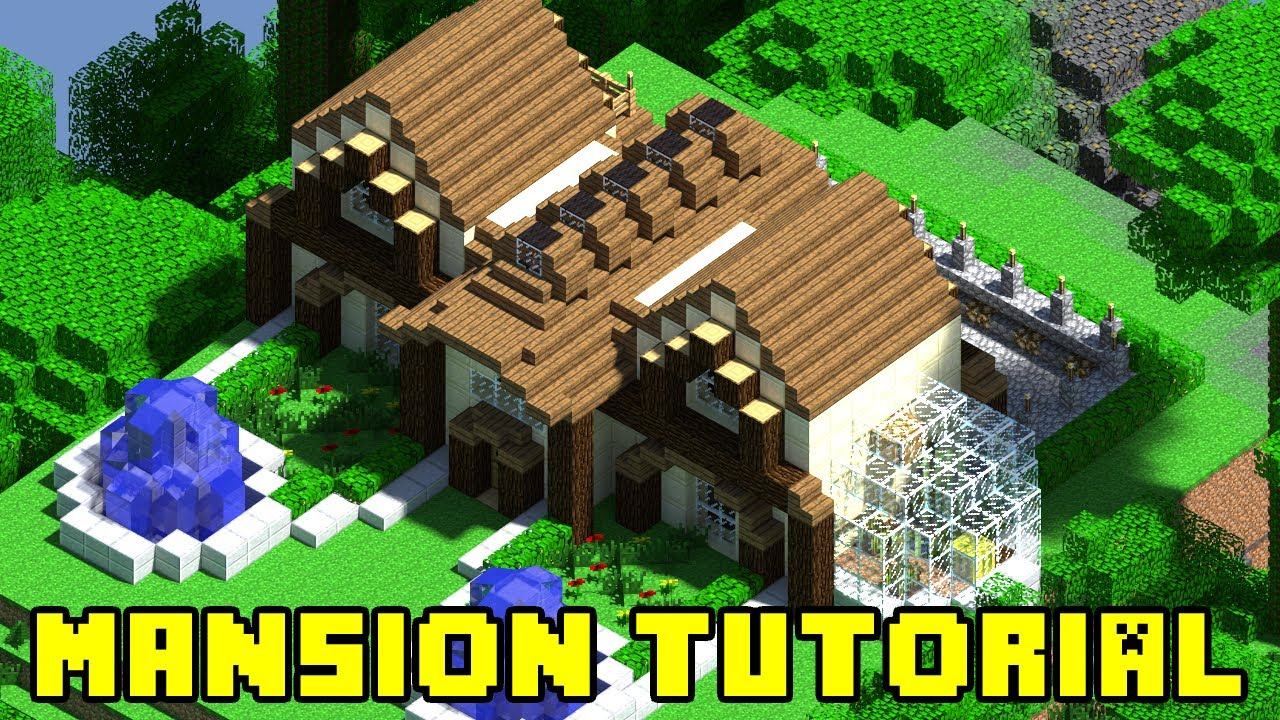 Minecraft mansion build tutorial xbox ps3 pe pc quick for How to build a house cheap and fast