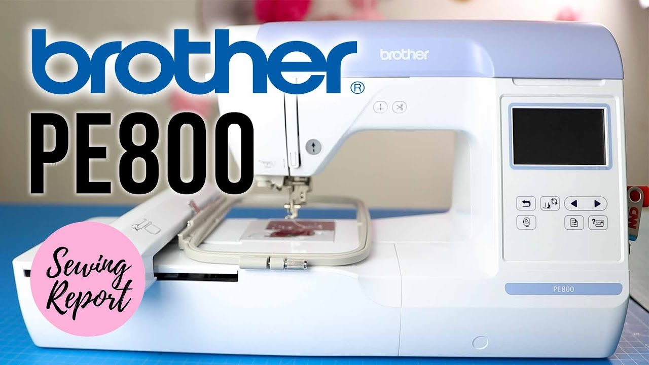 Brother Embroidery Machine with Large Color Touch LCD Screen