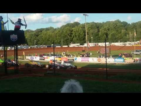 USAC Sprint Car Heat 2 Part 1/2 Bloomington Speedway