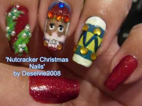 Nutcracker Christmas Nails Entry To Melineys Nail Art Contest