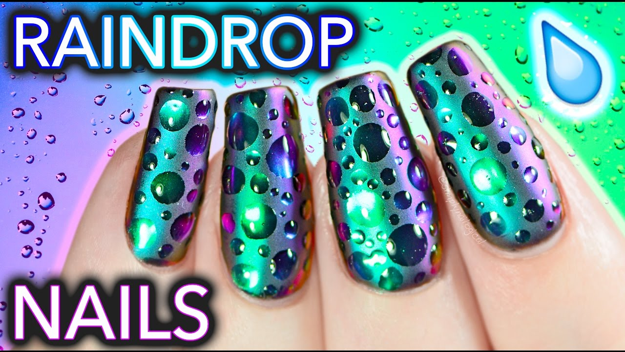 Nails Art: DIY Raindrop Multi-Chrome Nails