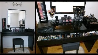 Ikea Malm Vanity Makeup Table - Organization - Storage