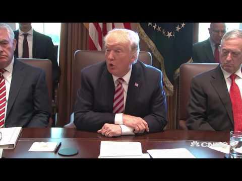 President Donald Trump just held the weirdest bizarre as Cabinet turns praising him Full Video