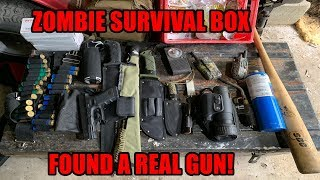 FOUND ZOMBIE APOCALYPSE SURVIVAL BOX WITH GUN INSIDE! ABANDONED DOOMSDAY PREPPER/ SURVIVAL BOX!!!