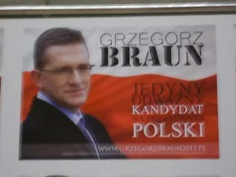 Grzegorz Braun w Krakowie - 23 marca AD 2015 - wstęp 1 z 3