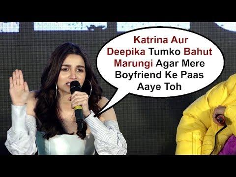 Alia Bhatt  Reaction On Beating Boyfriend Ranbir Kapoor Ex-Girlfriend