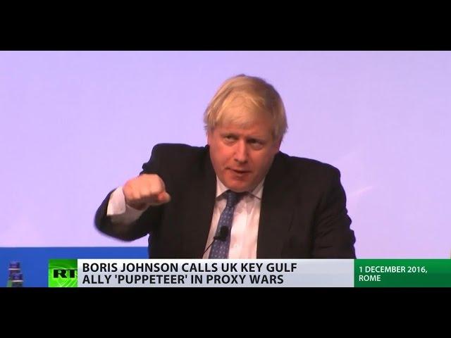 'Puppeteer in proxy wars': Boris Johnson accuses Saudi Arabia of 'abusing Islam'