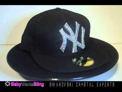 fb0a490091c New York Yankees New Era 5950 Swarovski Crystal Bling Rhinestone Hat ...