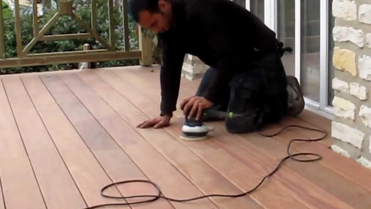 Avec quoi poncer une terrasse en bois