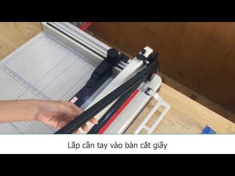 Bàn cắt giấy chuyên nghiệp YG858 | Máy xén giấy chuyên nghiệp | Bàn cắt giấy A3, A4