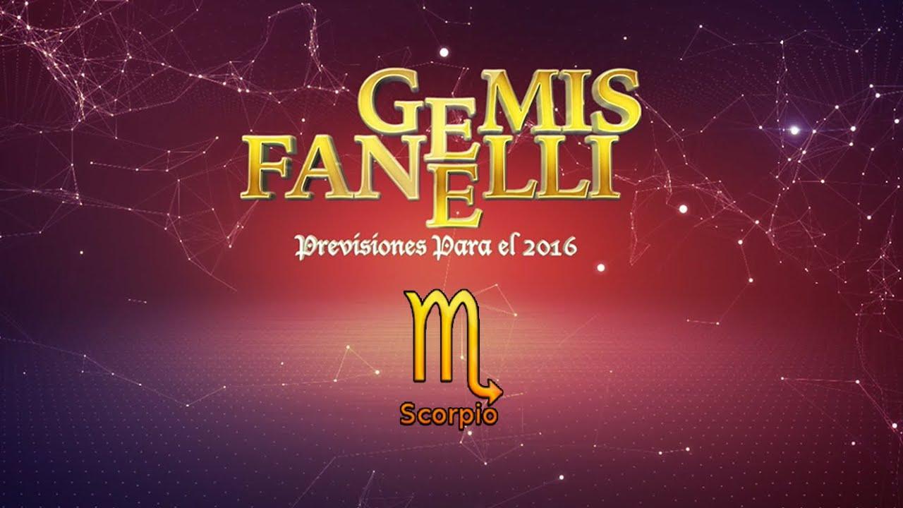 Escorpio - Previsiones para el 2016 de Gemis Fanelli