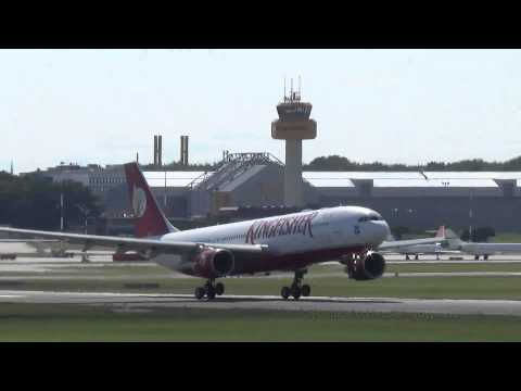 Ex KINGFISHER AIRLINES A330 | [D-ALAA] | Smoky APU | Takeoff @ Hamburg Airport
