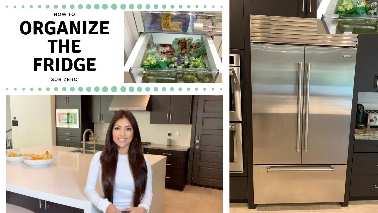 Sub Zero Glass Door Refrigerator organize your fridge | sub zero | adriana aden