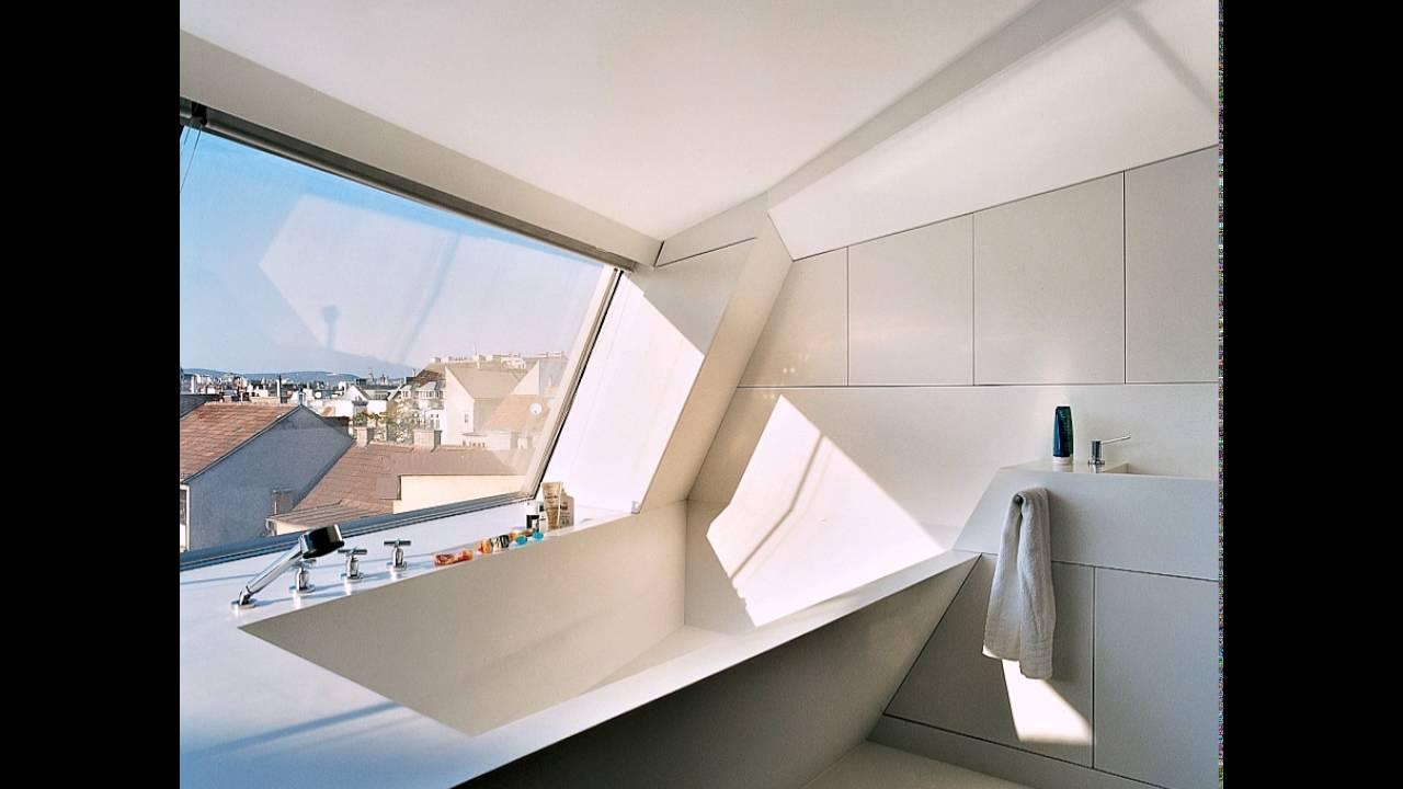 Ultra Modernes Bad Mit Weißen Corian Bathrub