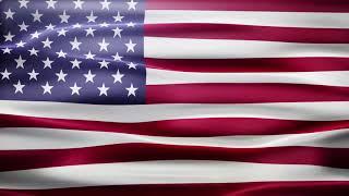 USA Flag Loop Motion Background