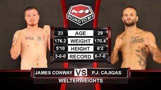 Джеймс Конвэй vs Пи Джей Кахигас, Road to M-1: USA