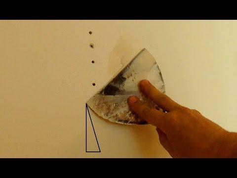 Как зашпаклевать отверстия на стене,  как чинить стены (23 апр. 2016 г.)