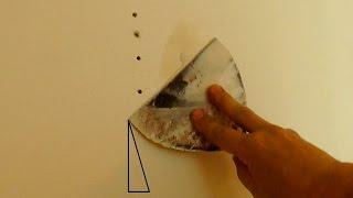 Как зашпаклевать отверстия на стене,  как чинить стены