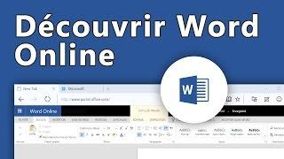Office 365 - Découvrir Word Online