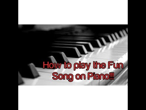 How to play the FUN song, spongebob on the piano!!