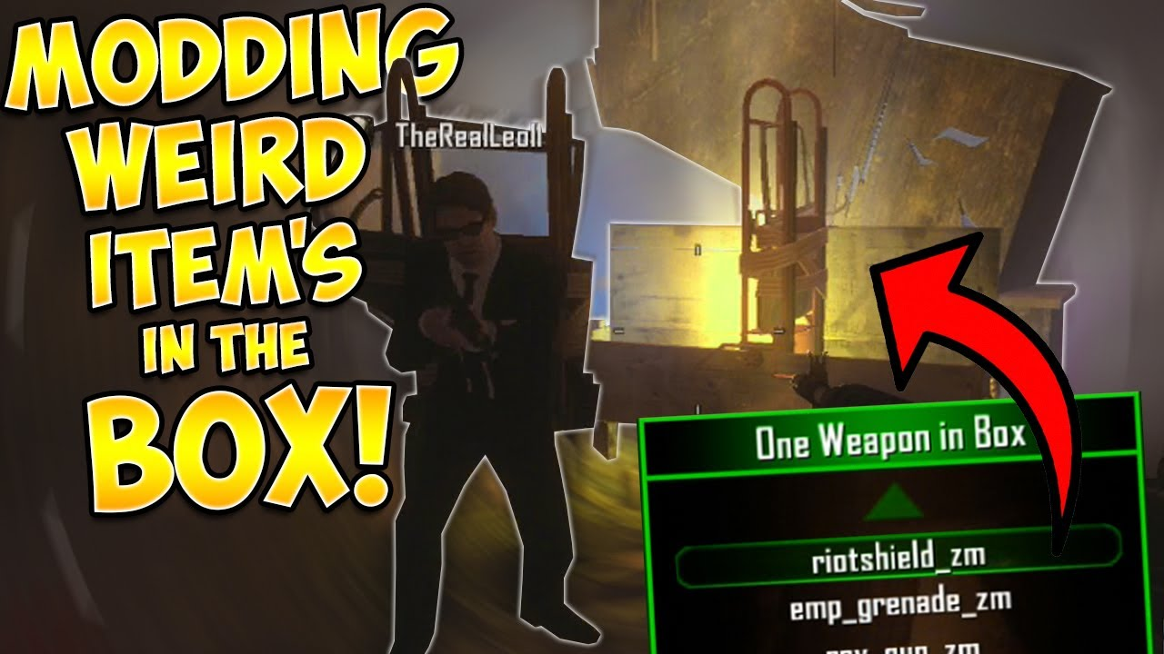 MODDING WEIRD WEAPONS INTO THE MYSTERY BOX! (Zombie Mod Trolling)