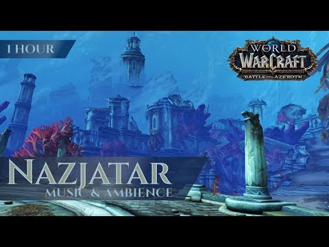 Nazjatar - Music & Ambience (1 Hour, 4K, World Of Warcraft Battle For Azeroth Aka BfA 8.2)