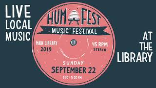 HUM Fest—Live Local Music at The City Library—Sun, Sep 22