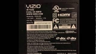 vizio tv sound but no picture help